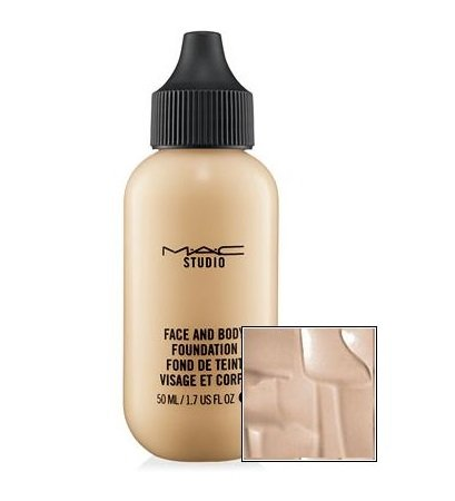 [MAC Studio Face and Body Fluid Foundation - Flawless, Natural Satin-shine Finish (Face and Body Foundation - N1)] (Satin Finish Foundation)