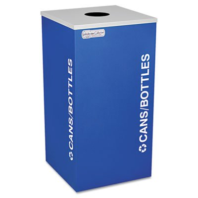 - Ex-Cell RCKDSQCRYX Kaleidoscope Collection Recycling Receptacle, 24gal, Royal Blue
