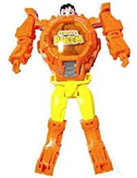 Super Hero Transformer Robot Toy Convert Into Digital Wrist Watch for Kids, Super Robot Deformation Watch (Chhota Bheem)