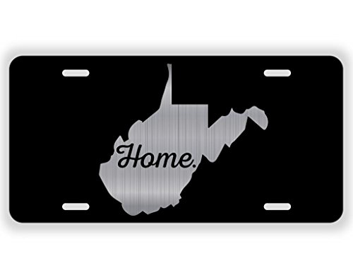 JMM Industries West Virginia Home State WV Vanity Novelty License Plate Tag Metal 6-Inches by 12-Inches Etched Aluminum UV Resistant ELP070 (West Virginia Metal)