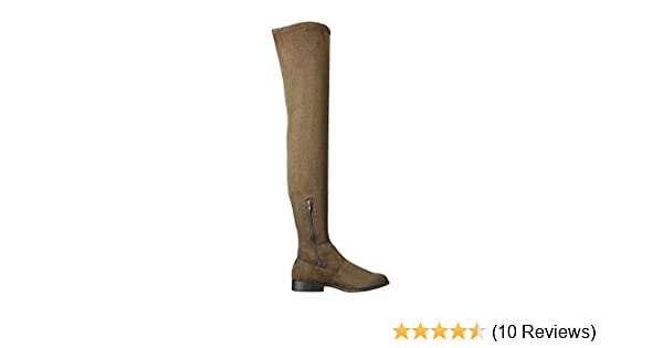12d9ebd81 Amazon.com | Lust For Life LFL Rank Elusive Rebel Over-The-Knee Thigh High  Flat Fiited Boots | Boots