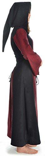 S Damen blau Kleid braun Dunkelrot XL weiß HEMAD rot Gugel grün zum Schnüren mit Mittelalter schwarz TFnvU