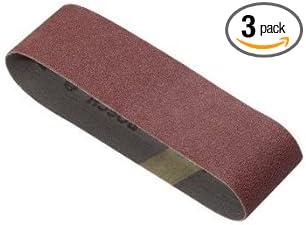 Bosch 4x24 inch 80 Grit Sander Wood Metal Sanding Belt 3 Pack Sandpaper Belts