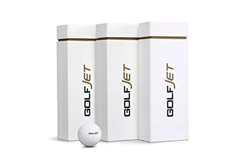 GolfJet JET3 Triple Pack | 36 x Premium JET3 Golf Balls. 3-Layer Power Core, Supersoft 338 Dimple Hex Aero Urethane Cover. Longer Flatter Drives, More Game Spin, Optimum Feel for Ultimate Control.