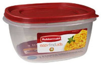 Rubbermaid Easy Find Lid Food Storage Container, BPA-Free Plastic, 5 Cup