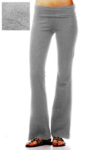 Cotton Lycra Rollover Waist Athletic Yoga Pants (Lounge Rollover Pants)
