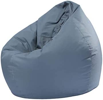 BeesClover Waterproof Stuffed Animal Storage/Toy Bean Bag Solid Color Oxford Chair Cover Large Beanbag(filling is not included) gray 60X65CM