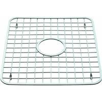 InterDesign Gia Metal Sink Grid with Draining Hole, Non-Skid Protector for Kitchen, Bathroom, Basement, Garage, 13