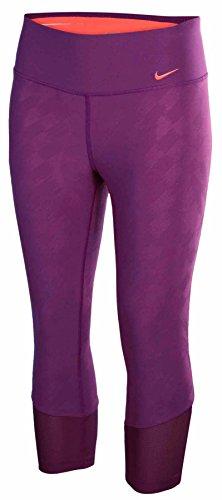 NIKE Women's Dri Fit Legend 2.0 Run Tight Fit Running Capri Pants, Purple