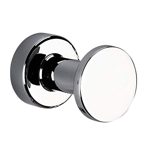 Valencia TECNO Wall Mount Round Towel Robe Hook Hanger for Bathroom Towel Holder (Polished Chrome) by Valencia Bath Collection
