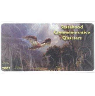 2007 Statehood Commemorative Quarters Specialty Coin Holder and Vinyl Sleeve Set - Commemorative Statehood Quarters