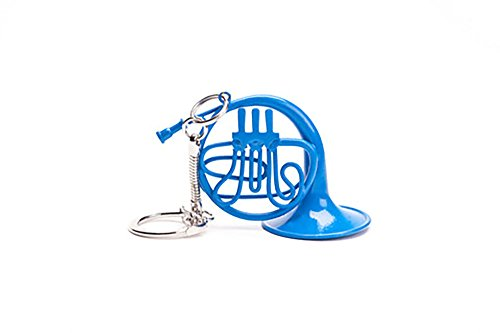 Blue French Horn Keychain - Cool TV Props - Decorative Mini Blue French Horn from How I Met Your Mother - 5.5