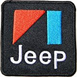 Jeep Wrangler Grand Cherokee Logo Sign Car Racing Patch Iron on Applique Embroidered T shirt Jacket BY SURAPAN (white)