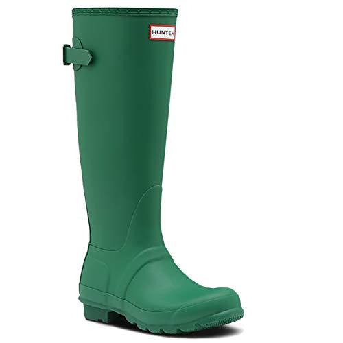 Hunter Womens Original Tall Adjustable Wellington Waterproof Rubber Boot - Hyper Green - 8
