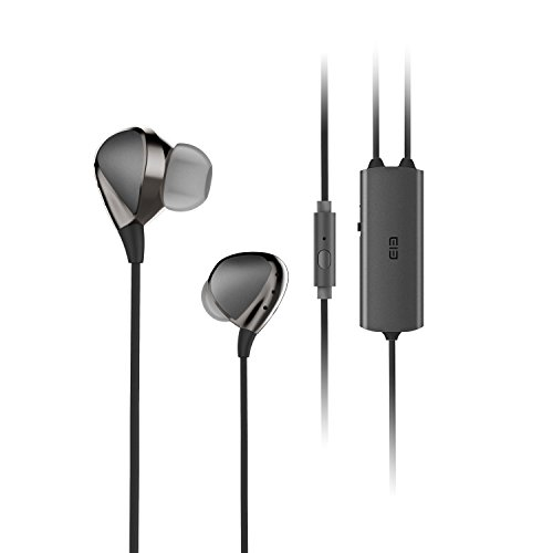 MGcool ELE Whisper-- Noise Isolating Earphones, In-Ear Active Noise Canceling Earbuds HIFI Headphones Headset with Noise Reduction - Insurance Black Chris