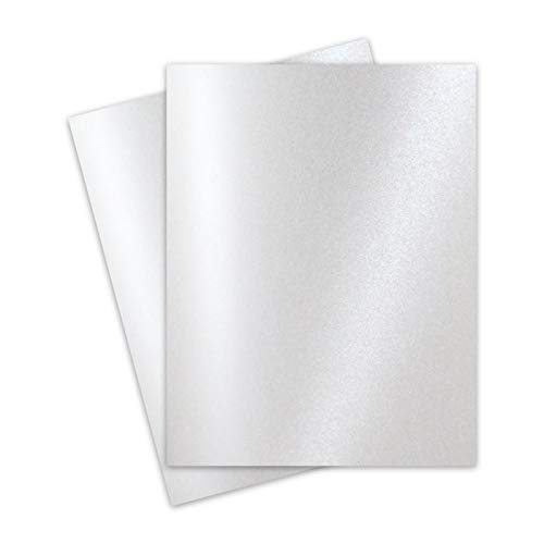 FAV Shimmer Pure Snow White 8-1/2-x-11 Cardstock Paper 25-pk - 250 GSM (92lb Cover) PaperPapers Letter Size Card Stock Paper - Business, Card Making, Designers, Professional and DIY Projects (Card Shimmer)