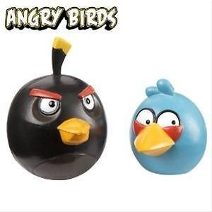 Angry Birds, Collectible Figures, Blue Bird and Black Bird, 2-Pack