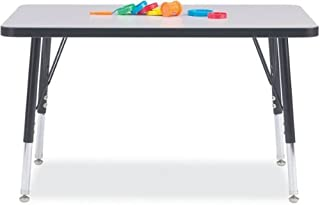 "product image for Berries Ridgeline KYDZ Activity Table - Rectangle - 24"" X 36"", 24"" - 31"" Ht - Gray"