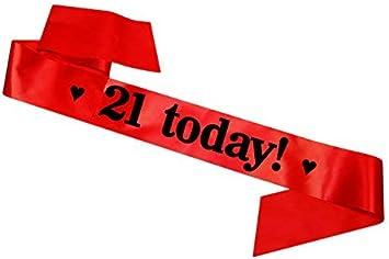 1001 Birthday Girl Sash 16th 18th 21st 30th 40th 50th 60th Party Gift Black