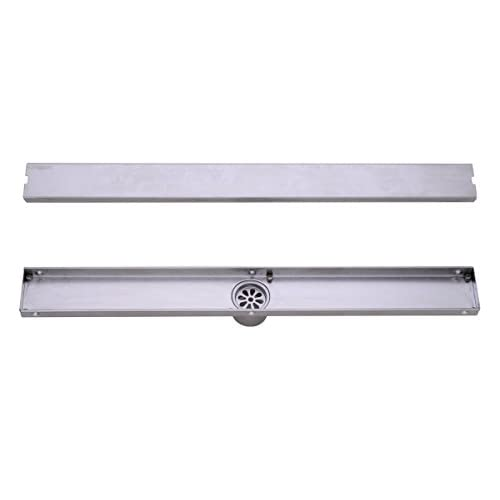 good HANEBATH 36 Inch Linear Shower Drain with Tile Insert Grate , Brushed Stainless