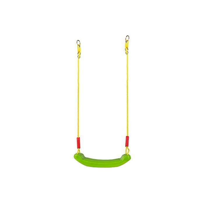 31T%2B5sPNjqL Columpio de plástico CB Toys Con 2 cuerdas de poliéster de 175 cm cada una Cuerdas regulables y super resistentes