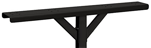 Salsbury Industries 4384BLK Spreader 4 Wide with 2 Supporting Arms for Roadside Mailbox, Black