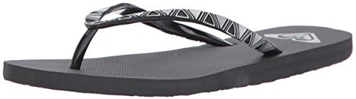 Roxy Women's Bermuda Molded Flip Flop, Dark Grey, 10 M US