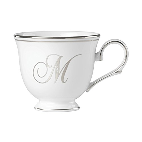 - Lenox Federal Platinum Script Monogram Dinnerware Teacup, M
