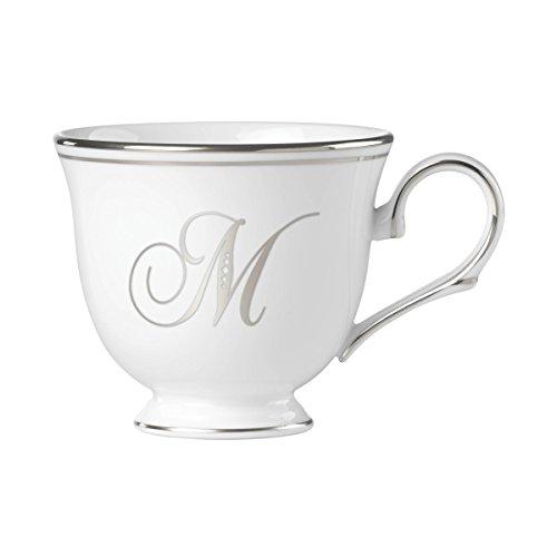 - Lenox Federal Platinum Script Monogram Dinnerware Teacup, M