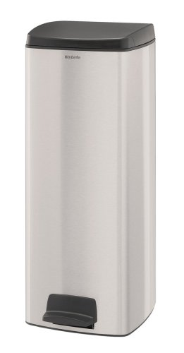 Trash Rectangular Brabantia Can (Brabantia Pedal Bin,25 Liter,rectangular,Matte Steel Fingerprint Proof ,369407)