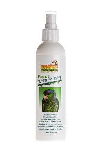 Bird Shampoo (8 Oz Parrot Bath Spray Bird Toy Parts Parrots Bathe Feathers by Jungle Beaks)