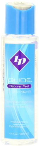 ID Glide Natural Feel Water Based Lubricant, 4.4 Fluid Ounce. - Water Natural Base Lubricant