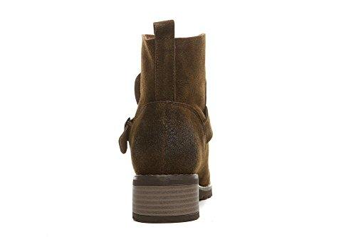 Stivali giornaliero inverno camoscio donna ragazze stivali alla caviglia scarpe , khaki , 39