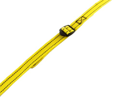 PROGRIP 502520 Light Duty Cargo Tie Down Lashing Strap with Yellow Webbing: Slip Lock Buckle, 9' x 1