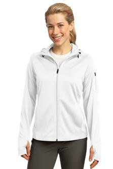 Sport-Tek Women's Drawcord Fleece Full-Zip Hooded Jacket_White_Small - Sport Tek White Sweatshirt
