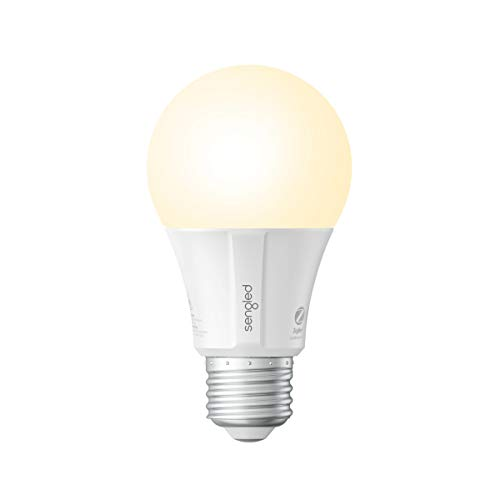 Sengled Smart LED Soft White A19 Light Bulb, Hub Required, 2700K 60W Equivalent, Works with Alexa, Google Assistant & SmartThings, 1 Pack