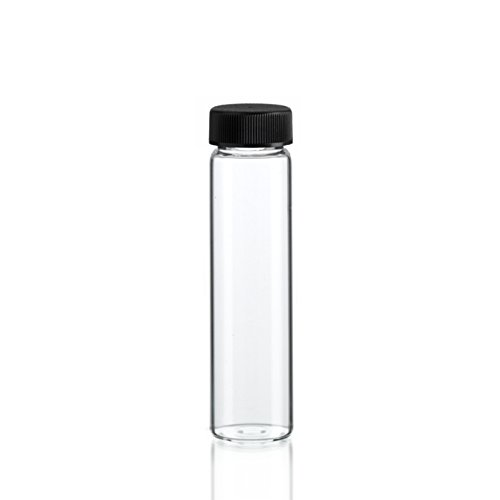 4 Dram CLEAR Glass Vial with Screw Cap - Pack of 144 (4 Dram, Clear, 144) (Borosilicate Vials)