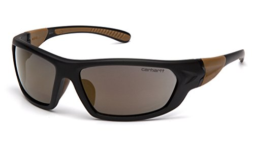 Carhartt CHB290D Carbondale SAFETY Glasses, Black/Tan Frame, Antique Mirror - Carhartt Sunglasses