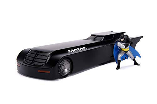 (Jada Toys 1: 24 Scale Animated Series Batmobile Diecast Vehicle with Batman Figure)