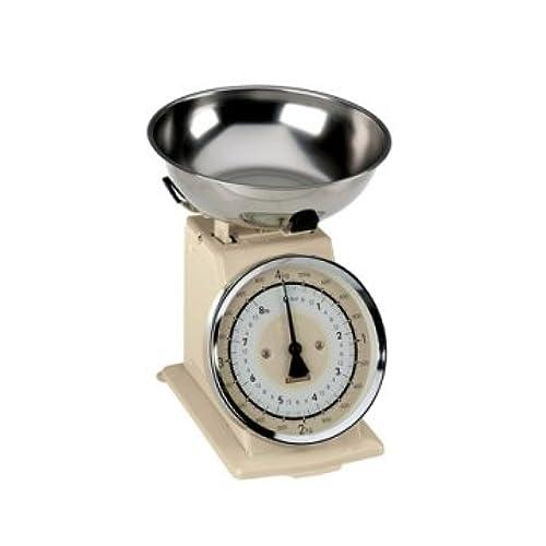 Typhoon Retro Cream Stainless Steel Kitchen Scale