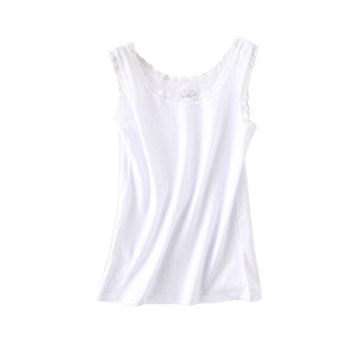 Donna Dexinx Merletto Giunzione Della Cuciture Nuove Nuovo Di Maglia Bianca Sexy Maglietta Lace Donne Modo drCxwrf