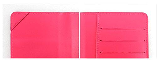 Korean Artist Design Luna #D1092LUIP0F Ivy Leather Passport Wallet YSW Youk Shim Won