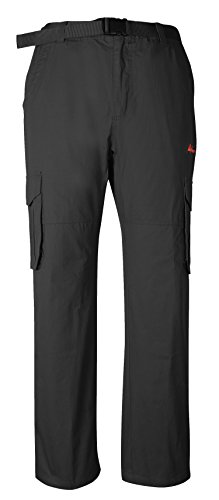 Mens Elastic Waist Belted Cargo Pants