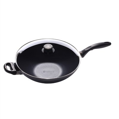 Swiss Diamond 61132ic Induction Nonstick Wok with Lid, 12.5-Inch