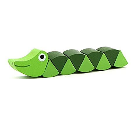 RichardJov Montessori Toys,Educational Wooden Toys for Children Early Learning Exercise Baby Fingers Flexible Kids Wood Twist Insects Game 2