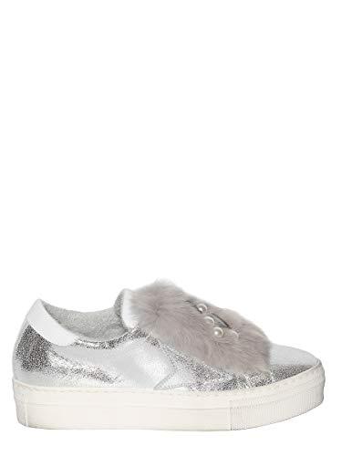 E Sneaker Pelle Perle Metallizzata Pelliccia Meline Gomma In Para Brillanti Con YUZqxwd