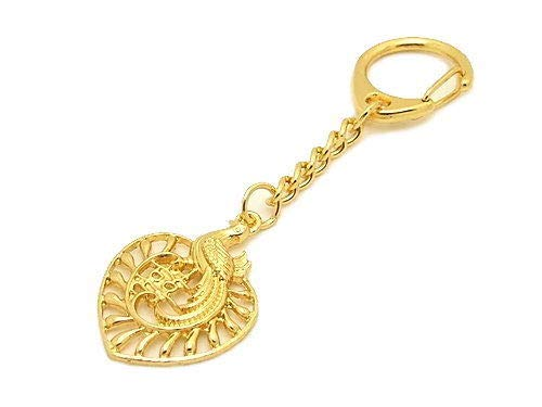 Feng Shui Phoenix with Double Happiness Keychain Ring Charm Hanging Amulet