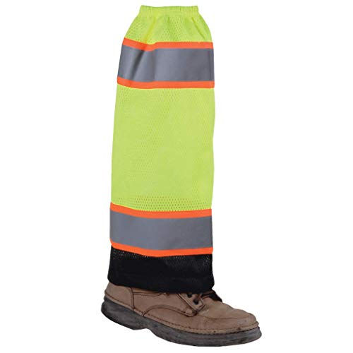 Brite Safety Mesh Hi-Vis Gaiter - High Visibility Leg Gaiters Reflective Clothing Accessory For Men and Women (Lime)