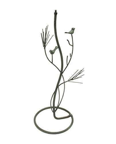 - Rome Industries B92 Bird in Pines Pedestal Base for Sundials, Verdigris Painted Finish, Wrought Iron, 28-Inch by Rome Industries