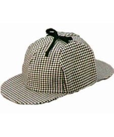 jacobson-hat-company-mens-sherlock-holmes-cotton-cap-black-white-adult